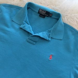 Polo Shirt | Polo by Ralph Lauren - Blue/Coral
